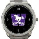 Western University Mustangs Sport Metal Watch