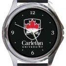 Carleton University Round Metal Watch