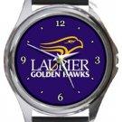 Wilfrid Laurier University Golden Hawks Round Metal Watch