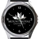 Mount Royal University Round Metal Watch