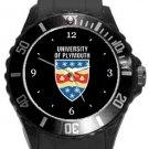 University of Plymouth Plastic Sport Watch In Black