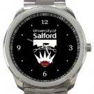 University of Salford Manchester Sport Metal Watch