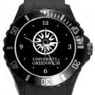University of Greenwich Plastic Sport Watch In Black