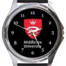 Middlesex University Round Metal Watch