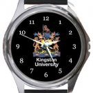 Kingston University Round Metal Watch
