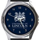 University of Lincoln Round Metal Watch