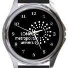 London Metropolitan University Round Metal Watch