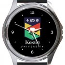 Keele University Round Metal Watch