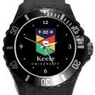 Keele University Plastic Sport Watch In Black