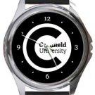 Cranfield University Round Metal Watch