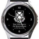 University of Queensland Round Metal Watch