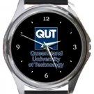 Queensland University of Technology Round Metal Watch