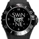 Swinburne University of Technology Plastic Sport Watch In Black