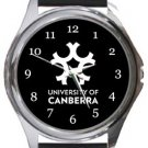 University of Canberra Round Metal Watch