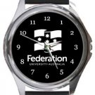 Federation University Round Metal Watch