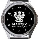 Massey University Round Metal Watch