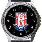Stoke City Football Club Round Metal Watch
