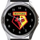 Watford Football Club Round Metal Watch