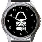 Nottingham Forest FC Round Metal Watch