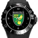Norwich City Football Club Plastic Sport Watch In Black