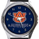 Auburn University Tigers Round Metal Watch
