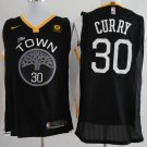 2018 Men's Golden State Warriors #30 The Town Stephen Curry Basketball Black Jersey