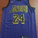 Los Angeles Lakers City Edition Purple #24 Kobe Bryant  Free Shipping