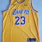 Los Angeles Lakers #23 Lebron James Retro Yellow NBA Jersey Free  Shipping