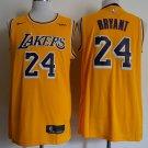 Los Angeles Lakers #24 Kobe Bryant Vintage Yellow NBA Jersey Free Shipping