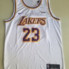 Los Angeles Lakers #23 Lebron James Retro White Jersey Free Shipping