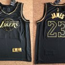 Los Angeles Lakers #23 Lebron James Black Gold Jersey Free Shipping