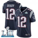 New England Patriots #12 Tom Brady Blue Super Bowl LII Jersey Free Shipping