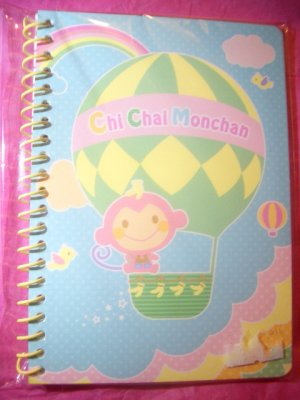 Chi Chai Monchan Mini Spiral Kawaii Notebook