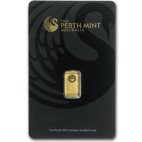 1 Gram Perth Mint Gold Bar (New w/ Assay)