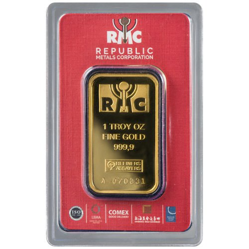 1 oz RMC Gold Bar (New w/ Assay)