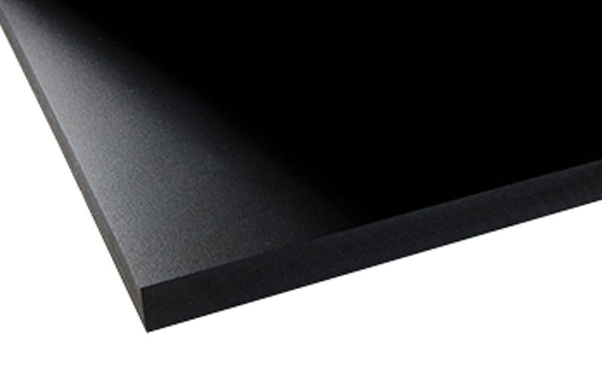 PVC FOAM BOARD SHEET USED IN ARCHITECTURE POS THEATRICAL PROPS 12X24 3MM BLACK
