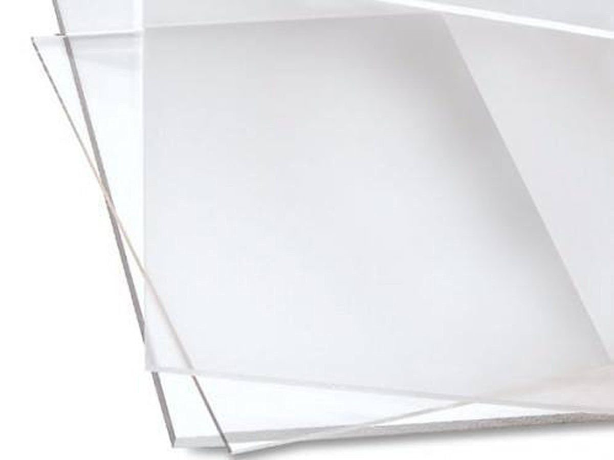 PLEXIGLASS ACRYLIC CUSTOM CUT SHEET USED IN DISPLAY CASE FRAME 24X24 3MM Clear