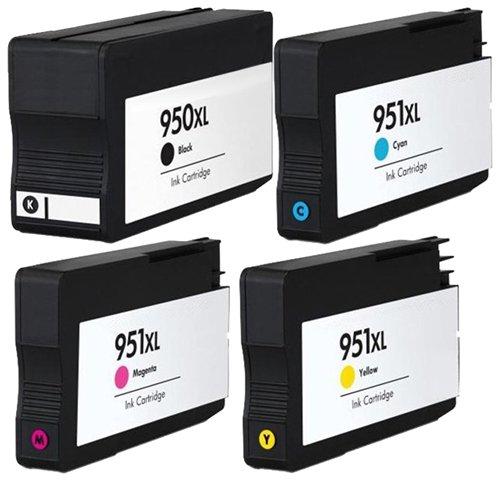 4 Pack HP 950XL CN045AN#140 ink, OfficeJet 8600, Officejet 8610, Officejet 8620 & More