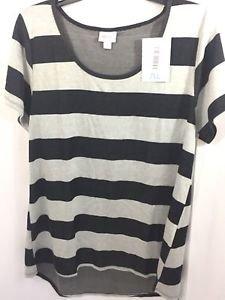 Lularoe Classic T Size XL Black and Gray Stripe NEW NWT