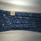 Lularoe Maxi Skirt  - Beautiful floral design - Size Medium M - New Blue Gray