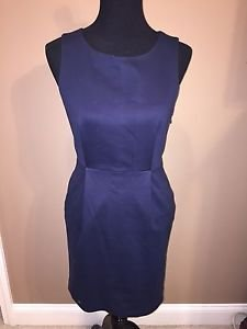 Rag & Bone Navy Blue Straight Dress Sz 4- Stretch  Open Back GORGEOUS!