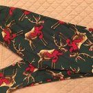 LULAROE CHRISTMAS HOLIDAY GREEN RED REINDEER DEER OS One Size NEW
