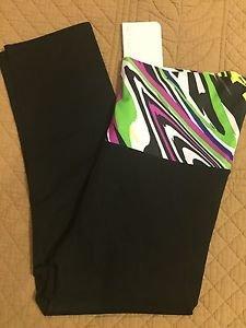 NEW NWT FABLETICS FABLAR CAPRI LEGGINGS Fold Waist Size Medium 8 Black