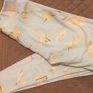 Lularoe LEGGINGS One Size OS NEW Paper Cranes Pale Green Yellow