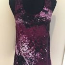 Womens RAG & BONE Marbled Plum Racerback Silk Tank Top SMALL Casual Modern Style