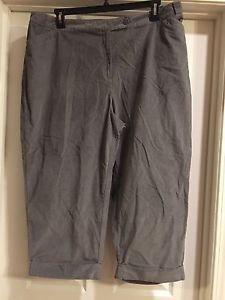 NEW J. Jill Pants Corduroy Sz 22 W Pinwale Soft Elastic Back Straight Leg Gray