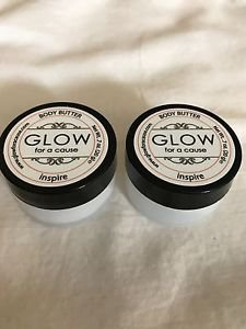 Set of 2 INSPIRE BODY BUTTER by Glow For a Cause .7oz Travel Size