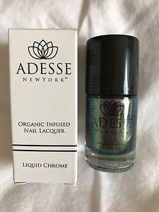 Set of 2 Adesse New York Liquid Chrome Organic Nail Polish lacquer NEW NIB