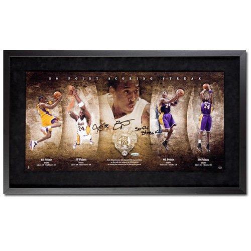 Los Angeles Lakers Kobe Bryant Autographed 50 Point Scoring Streak Photo Collage