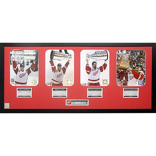 Steiner Sports Detroit Red Wings Framed Stanley Cup Dynasty Collage